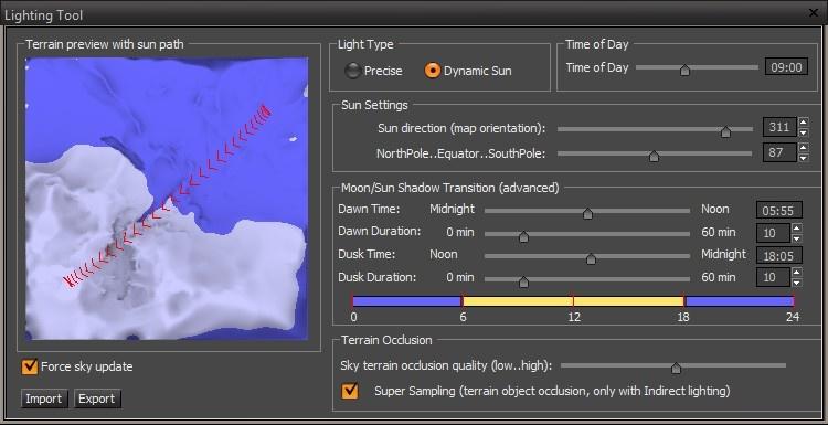 Terrain Lighting Tool - CRYENGINE 3 Manual - Documentation