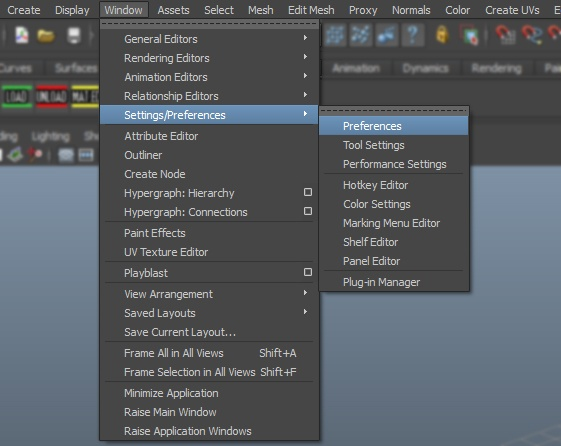 how to change units in maya 2018