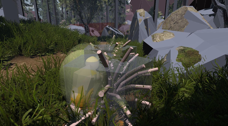 초목 - 04 덤불(접촉 휨) Maya