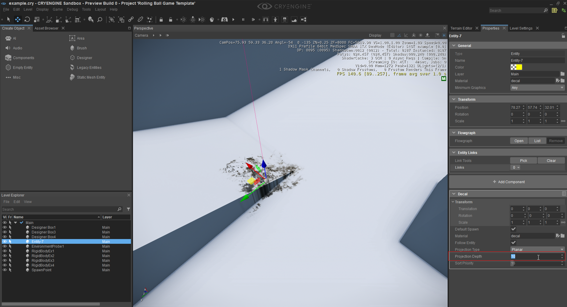 Decal Component CRYENGINE V Manual Documentation - Decal graphics software